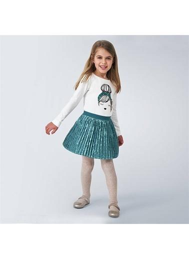 Mayoral Mayoral Kız Çocuk Pileli KAdife Etek Yeşil